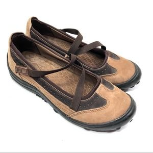 Lands End all terrain Mary Jane shoes brown - 7